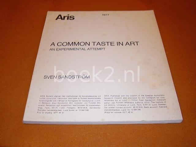 A common taste in art, An e...