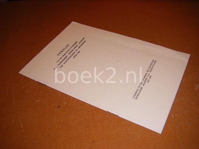 HEEROMA, K.; DAAN, JO - Verslag van de dialectencommissie der Koninklijke Nederlandse Akademie van Wetenschappen te Amsterdam over 1965