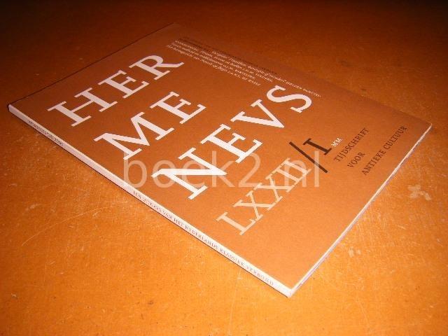REDACTIE - Hermeneus, tijdschrift voor antieke cultuur LXXII-I