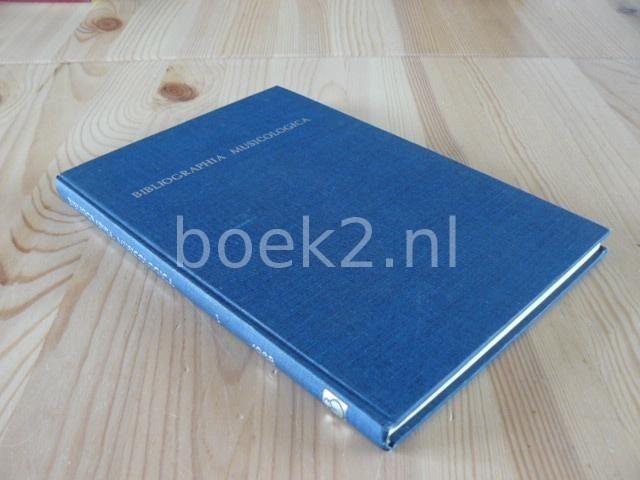EDITORS - Bibliographia Musicologica 1968