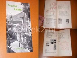 prijslijst--anwb-januari-1972-kaarten-gidsen-boeken-voorwerpen