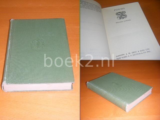 COWPER, WILLIAM; HUGH L`ANSON FAUSSET (ED.) - Poems. [Everyman`s Library, No. 872]