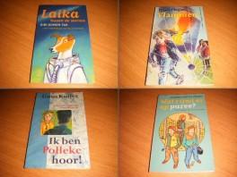 set-van-4-kinderboekenweekgeschenken-ik-ben-polleke-hoor-vlammen-wat-rijmt-er-op-puree-laika-tussen-de-sterren