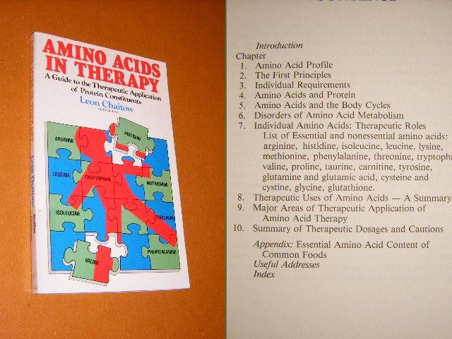 CHAITOW, LEON. - Amino Acids in Therapy. A Guide to the Therapeutic Application of Protein Constituents.