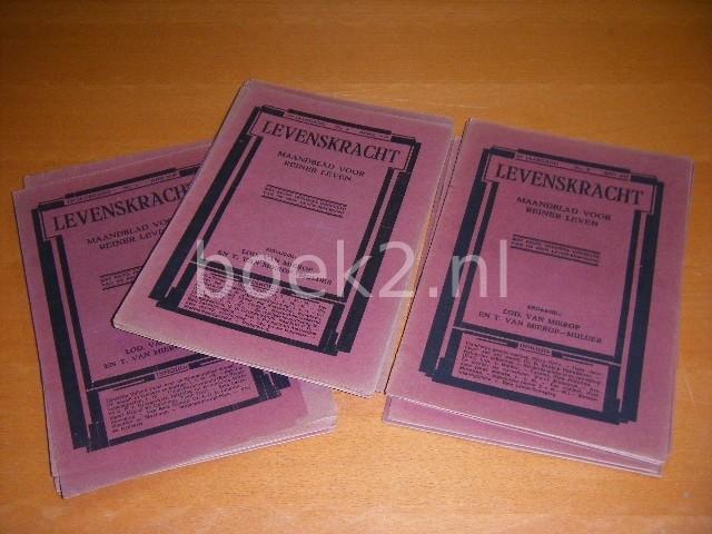 LOD. VAN MIEROP EN T. VAN MIEROP-MULDER (RED.) - Levenskracht, Maandblad voor Reiner Leven, Met eigen offisieel gedeelte van de Rein Leven-Beweging [SET: Jaargang 21 (1927), nummer 5 - Jaargang 22 (1928), nummers 2, 6, 9-12 - Jaargang 23 (1929), nummers 2-4 en 6-11]