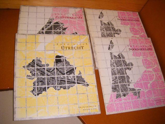 KLIJNJAN, IR. A.J. (INLEIDING) - Foto-Atlas: Noord-Holland + Zuid-Holland + Utrecht + Lijst van Intekenaren [Set van 3 boeken]