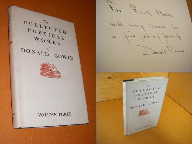 COWIE, DONALD. - The Collected Poetical Works of Donald Cowie.