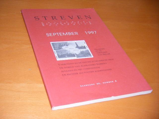 KOENOT, JAN, ET AL. - Streven. Cultureel Maatschappelijk Maandblad, September 1997 (jaargang 64, nummer 8)