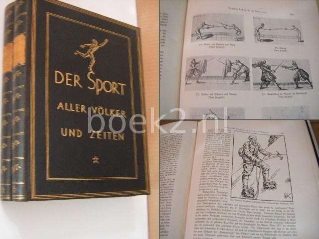 BOGENG, G. A. C. - Der Sport aller Vss¶lker und Zeiten. 2 Bss¤nde.  Mit ss¼ber 700 Textabb. u. montierten farb. Tafeln. Orig.-Leinenbss¤nde.