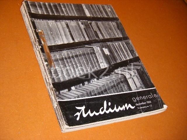 RED. - Studium Generale. Maandblad voor culturele Vorming. 7e jaargang 1961, compleet (1-12)