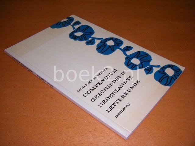 DR. G.P.M. KNUVELDER - Compendium geschiedenis Nederlandse letterkunde