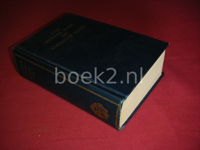 F.O. MATTHIESEN - The Oxford book of American verse