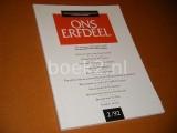 Ons Erfdeel. 35e Jaargang, Nummer 2, 1992. o.a. Over het Debuut van Anna Enquist - Componist Jan van Vlijmen.