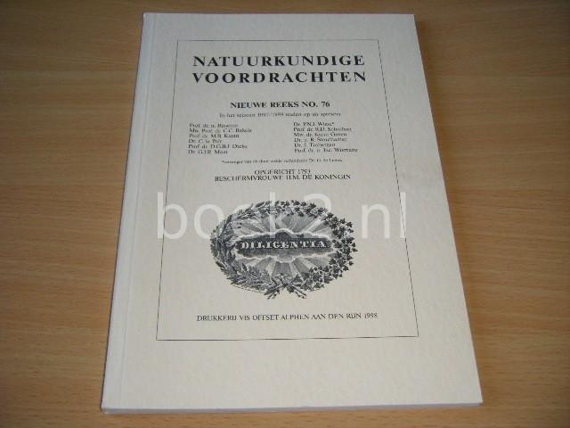 REDACTIE - Natuurkundige voordrachten, nieuwe reeks no. 76