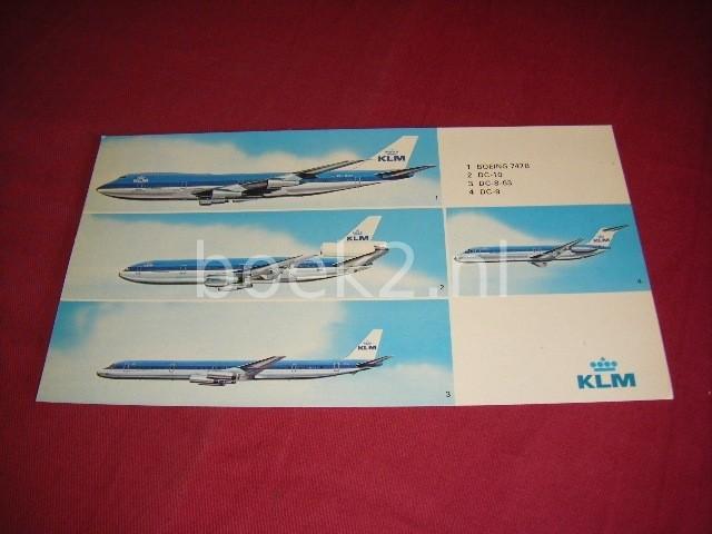 KLM - 1. Boeing 747B - 2. DC-10 - 3. DC-8-63 0 4. DC-9 [ansichtkaart]