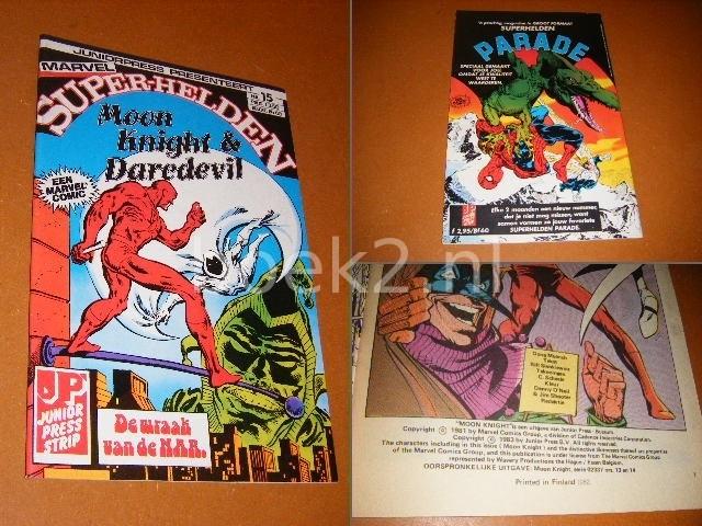 LEE, STAN - SUPER-HELDEN NR. 15 - Moon Knight en Daredevil, De Wraak van de NAR.