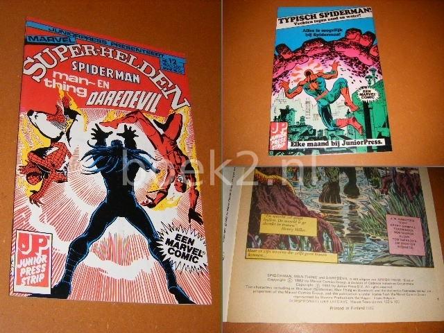 LEE, STAN. - SUPER-HELDEN NR. 12 - Spiderman, Man-Thing en Daredevil.