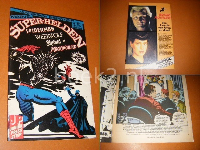 LEE, STAN. - SUPER-HELDEN NR. 11 - Spiderman, Weerwolf, Shroud en Mockingbird.