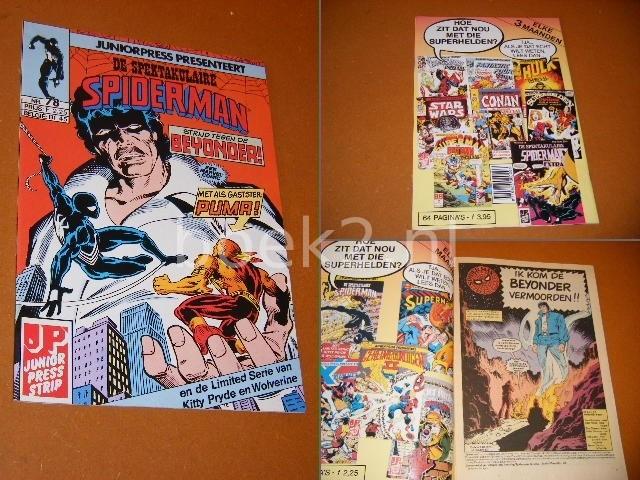 LEE, STAN. - DE SPEKTAKULAIRE SPIDERMAN NR. 78 - Strijd tegen de BEYONDER! Met als Gastster PUMA.
