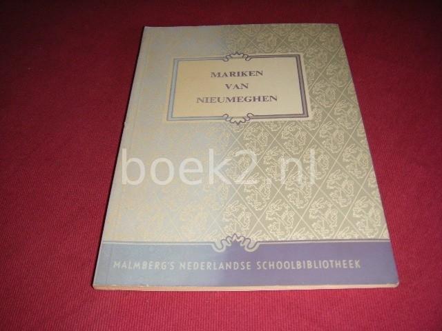 GERARD KNUVELDER (INLEIDING) - Mariken van Nieumeghen Malmberg's Nederlandse Schoolbibliotheek