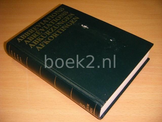 REDACTIE - Abbreviation, abreviations, abkurzungen, afkortingen