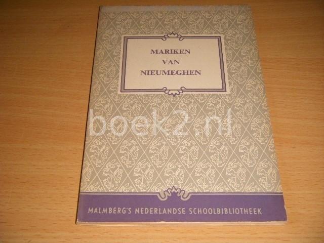 GERARD KNUVELDER (RED.) - Mariken van Nieuwmegen
