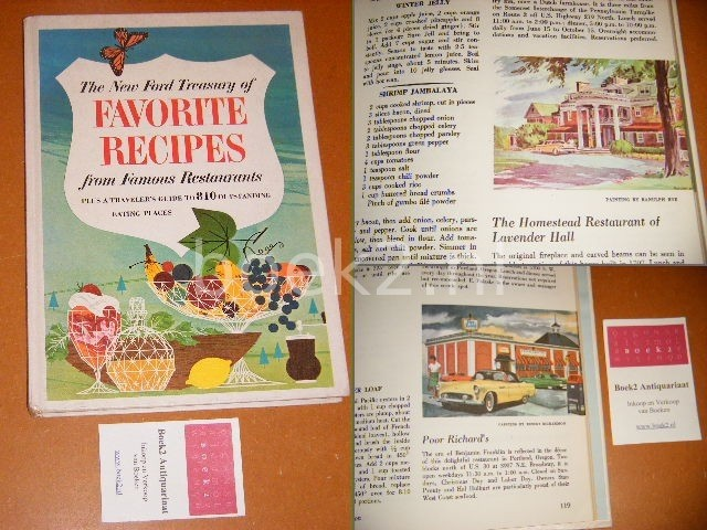 KENNEDY, NANCY (COMPILED AND TESTED BY) - The New Ford Treasury of Favorites Recipes from famous Restaurants. Plus a traveler s guide to 810 outstanding Eating places.