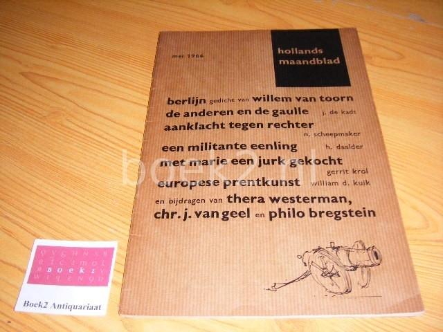 POLL, K.L. (REDACTEUR) - Hollands Maandblad, mei 1966