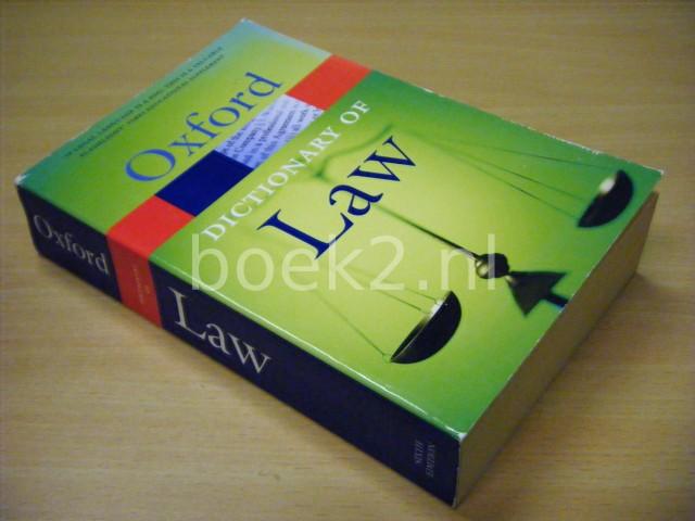 ELIZABETH A. MARTIN; JONATHAN LAW - A Dictionary of Law