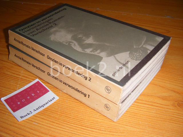 ROMEIN-VERSCHOOR, ANNIE - Omzien in verwondering - Herinneringen van Anne Romen-Verschoor I en II [set van 2] [Prive-Domein]