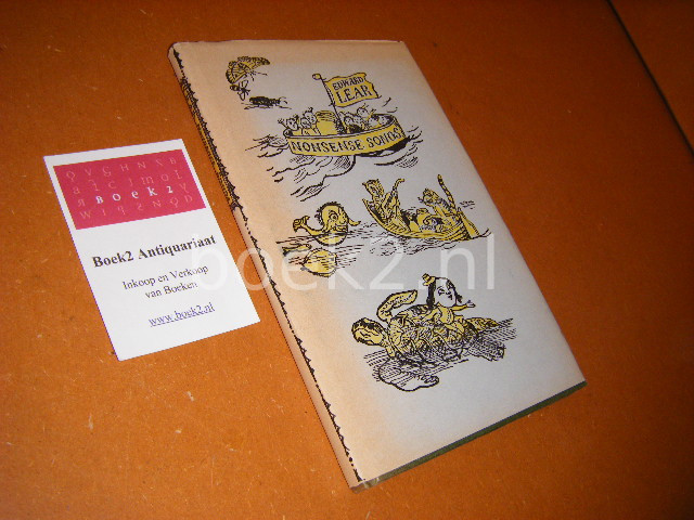 LEAR, EDWARD. - Nonsense Songs With the author`s own illustrations
