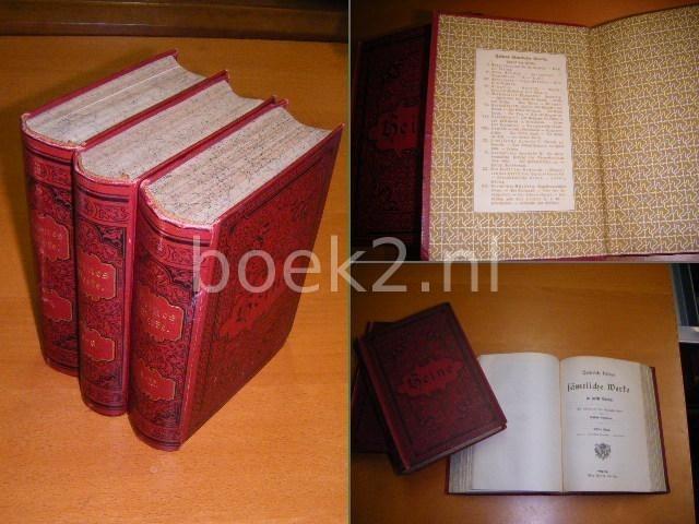 HEINE, HEINRICH - Heines sämtliche Werke in zwölf Bänden in 3 Bücher (und einer Biographie von Gustav Karpeles).