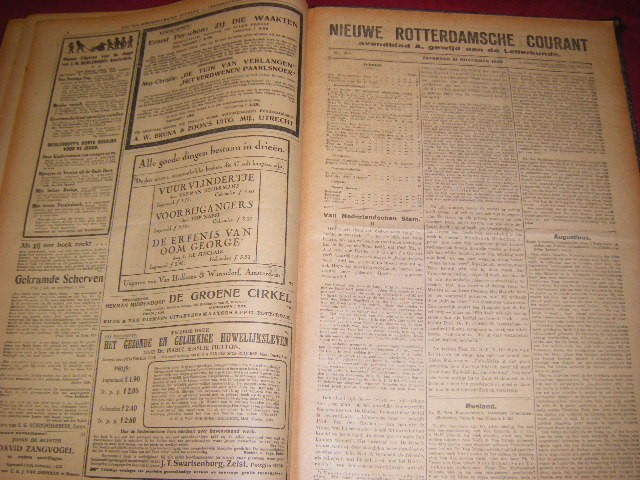 Anon. - Nieuwe Rotterdamsche Courant. Avondblad A, gewijd aan de Letterkunde: van 15 november 1924 t/m 21 november 1925