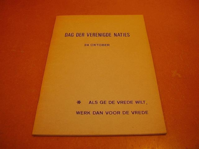 Vlist, H. van der (voorzitter) - Dag der verenigde naties, 24 oktober (22 jarig bestaan)
