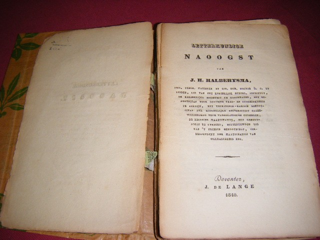 J.H. Halbertsma - Letterkundige naoogst