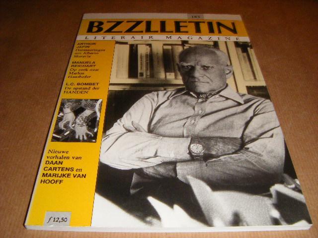 Red.; Cartens, Daan - BZZLLETIN. Literair Magazine. Nummer 183, 20e jaargang, februari 1991. Arthur Japin, Manuela Reichart, L.C. Bombet.