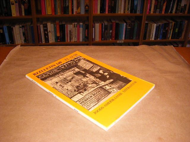 Red.; Cartens, Daan - BZZLLETIN. 15e jaargang nummer 140, november 1986. Joods-Amerikaanse Literatuur.