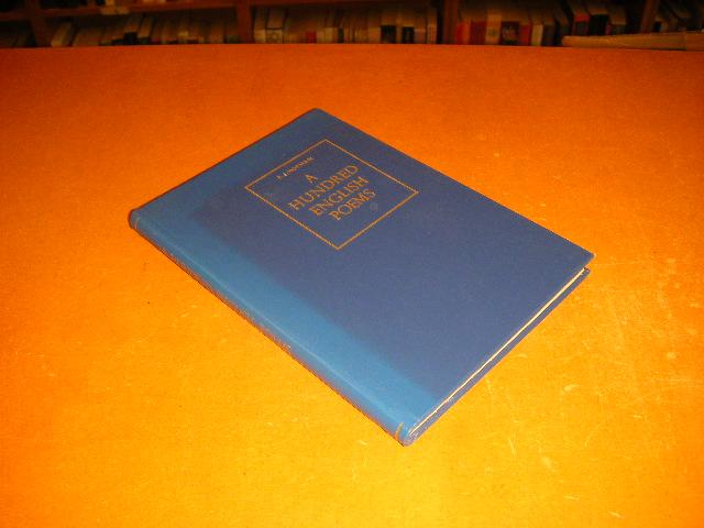 Hopman, F.J. (collected) - A hundred English poems