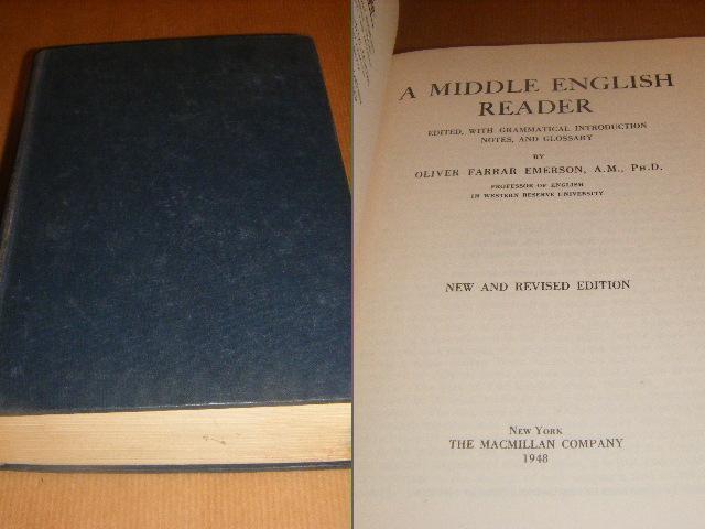 Farrar Emerson, Oliver - A Middle English Reader.