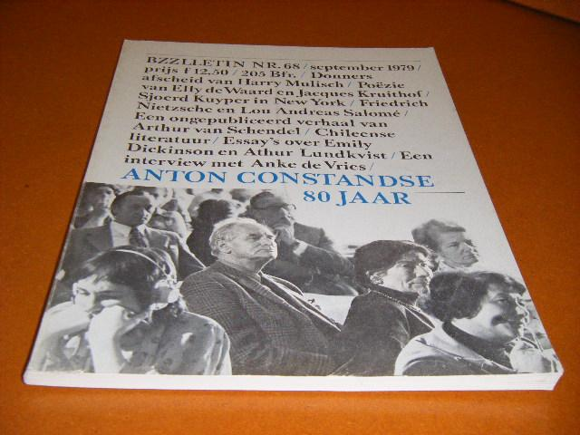 Diepstraten, Johan; Phil Muysson (red.) - BZZLLETIN, 8e Jaargang, Nummer 68, September 1979. Anton Constandse 80 Jaar.