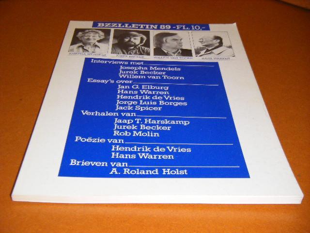 Diepstraten, Johan; Phil Muysson (red.) - BZZLLETIN, 10e Jaargang, Nummer 89, Oktober 1981. Josepha Mendels, Jurek Becker, Willem van Toorn, Hans Warren.