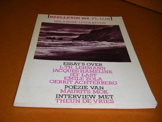 Diepstraten, Johan; Phil Muysson (red.) - BZZLLETIN, 11e Jaargang, Nummer 104, Maart 1983. Ijslandse Literatuur.
