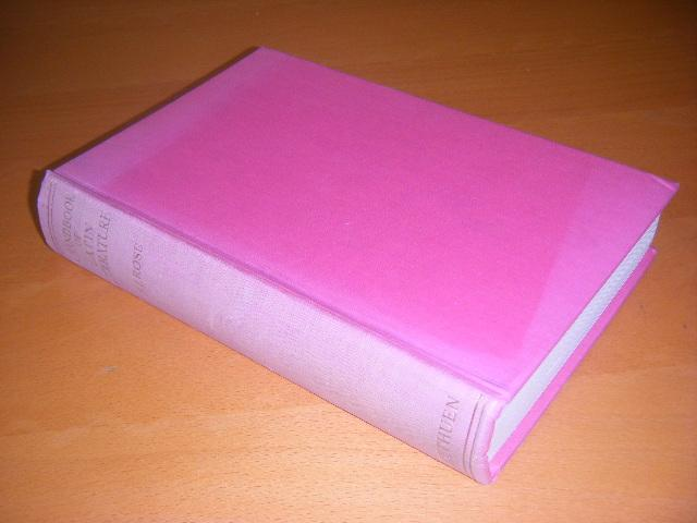 Rose, H.J. - A Handbook of Latin Literature. From the Earliest Times to the Death of St. Augustine.