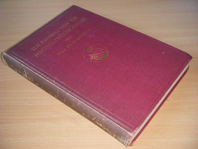 Dr. G. Revesz - Inleiding tot de muziekpsychologie
