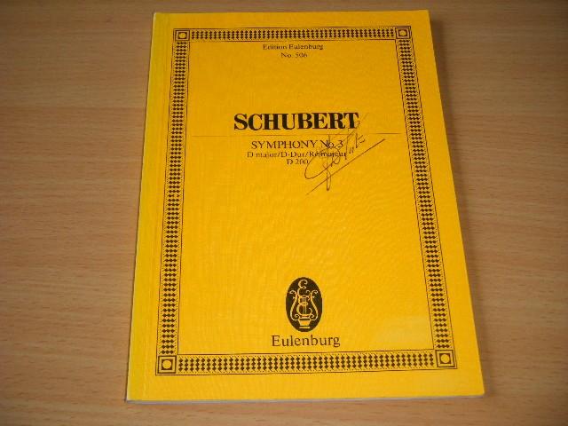 Franz Schubert - Symphony no.3 D major/D-Dur/Re majeur D 200